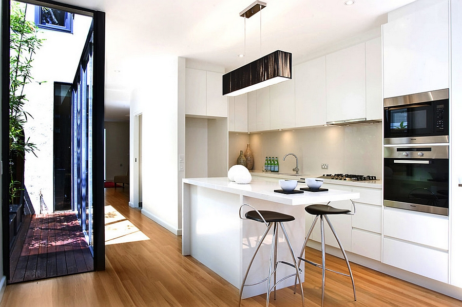 Modern kitchens for small spaces ... contemporary kitchen makes most of the small space [design: orbis  design] XWGBAFR